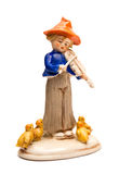 Porcelain violinist toy Royalty Free Stock Photo