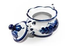 Porcelaine antique, vase à sucre de porcelaine. Images libres de droits