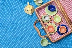Porcelaine colorée Images libres de droits