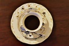 Porcelaine d'expresso in fine Photographie stock libre de droits
