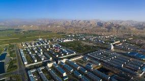 Porcelaine de bâtiment de matin de Hohhot images libres de droits