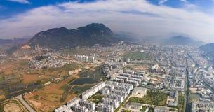 Porcelaine de bâtiment de puer de Yuxi Yunnan photos libres de droits