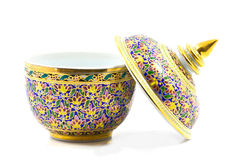 Porcelaine de Benjarong. Photographie stock