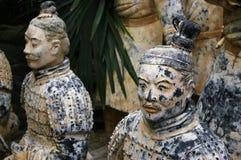 Porcelaine de guerriers de terre cuite Photo libre de droits
