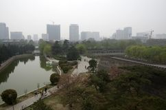 Porcelaine de Hubei de parc de ville de Handan photos libres de droits