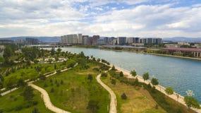 Porcelaine de paysage de parc de Hohhot images libres de droits