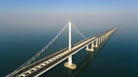 Porcelaine de Qingdao de bridg de Jiaozhouwan image libre de droits