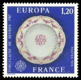 Porcelaine de Sevres de 1787 image stock