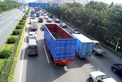 Porcelaine de Shenzhen : autoroute nationale 107 Image stock