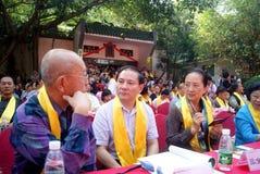 Porcelaine de Shenzhen : festival culturel de Confucius tenu Image stock