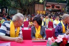 Porcelaine de Shenzhen : festival culturel de Confucius tenu Images stock