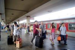 Porcelaine de Tchang-cha : station de train Image stock