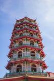 Porcelaine de temple en Thaïlande chez Kanchanaburi photographie stock