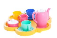 Porcelaine de thé de jouet images libres de droits
