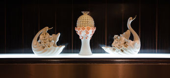 Porcelana łabędź Obrazy Royalty Free