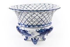 Porcelana antiga, vaso da fruta da porcelana. imagem de stock royalty free