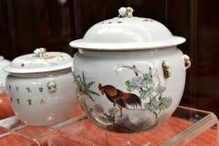 Porcelana antigua, China de cerámica, arte chino, cultura oriental Imagen de archivo libre de regalías