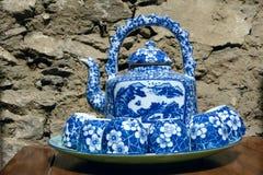 porcelana Azul-e-branca Fotos de Stock