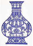 Porcelana azul e branca foto de stock royalty free