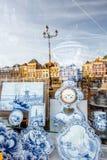 Porcelana azul na cidade da louça de Delft Foto de Stock