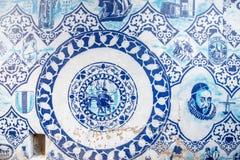 Porcelana azul na cidade da louça de Delft Fotografia de Stock Royalty Free