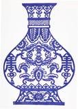 Porcelana azul y blanca Foto de archivo libre de regalías