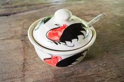 Porcelana blanca dolida Imagen de archivo libre de regalías