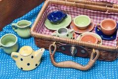 Porcelana coloreada Imagenes de archivo