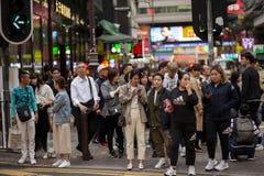 Porcelana de Hong Kong - march16,2019: grande número de atração turística à área uma do tsui do sha do tsim da maioria de z imagens de stock