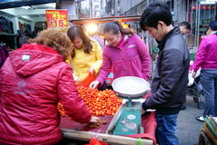 Porcelana de Shenzhen: os tomates da escolha e da compra Imagem de Stock