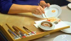 Porcelana del dibujo Imagen de archivo libre de regalías