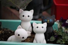 Porcelana kota wystrój zdjęcia stock