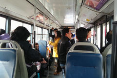 Ônibus em beijing Fotografia de Stock