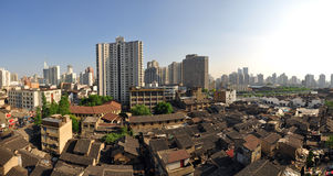 porcelana miastowy krajobrazowy Shanghai Zdjęcie Stock