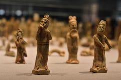 Porcelana no museu de Gansu, China do ancião Imagem de Stock