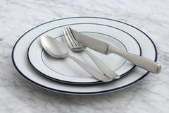 Porcelana parisiense extravagante dos restaurantes imagem de stock
