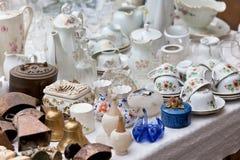 Porcelana przy pchli targ Zdjęcie Stock