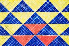 Porcelana składa mozaiki tło Wschodni matowy kształt Obrazy Royalty Free
