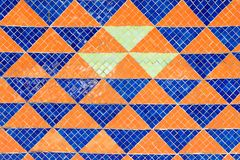 Porcelana składa mozaiki tło Wschodni matowy kształt Obraz Stock