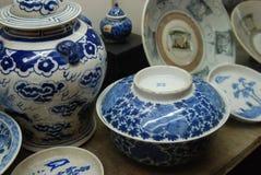 Porcelanas chinesas antigas Fotografia de Stock Royalty Free