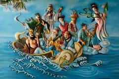 Porcelanowa świątynia w Wietnam obraz royalty free