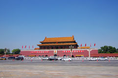 porcelanowa Beijing brama Tiananmen Obrazy Royalty Free