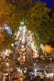 porcelanowa bieżąca targowa ulica Zdjęcie Royalty Free