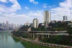 Porcelanowa Chongqing miasta sceneria Obrazy Royalty Free