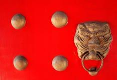 porcelanowa drzwiowa czerwień fotografia royalty free