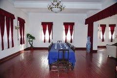 Porcelanowa Guilin Li Tsung-jen siedziba - gdy republika 'Prezydencki pałac ' Cztery setu fotografie--Pokój Konferencyjny Zdjęcia Stock