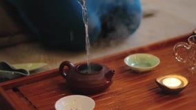Porcelanowa herbaciana ceremonia zbiory