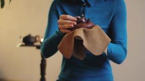 Porcelanowa herbaciana ceremonia zdjęcie wideo