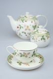 Porcelanowa herbaciana filiżanka Obrazy Stock