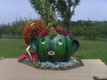 Porcelanowa Jinzhou Międzynarodowa Ogrodnicza ekspozycja fotografia royalty free